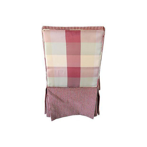 Red/White Parsons Chairs-Set of 4