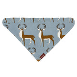 Organic Cotton Kerchief Bib - Blue Buck