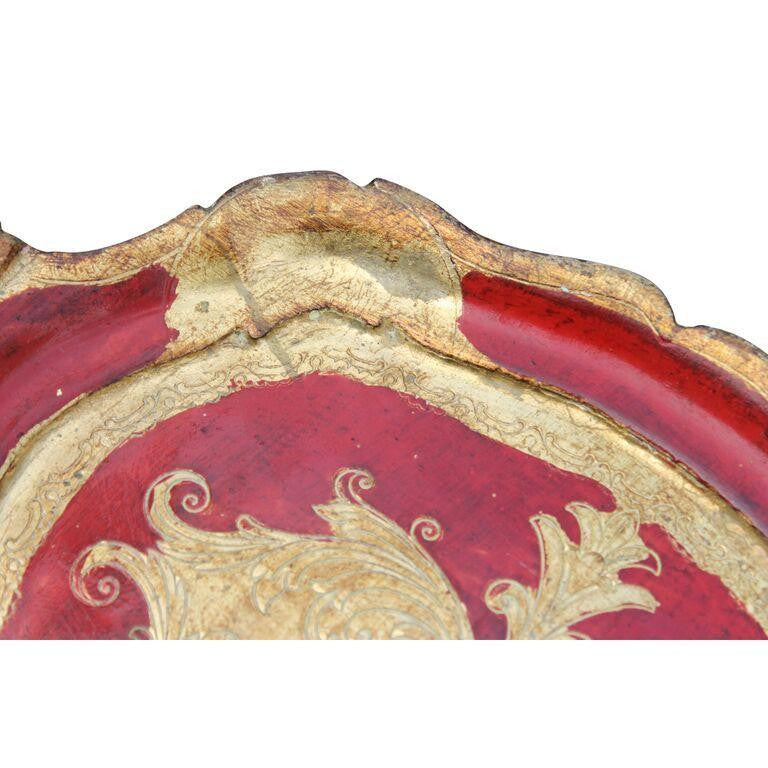 Red Italian Florentine Tray