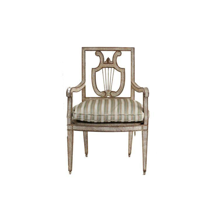 Florentine Wire Back & Rush Seat Chair