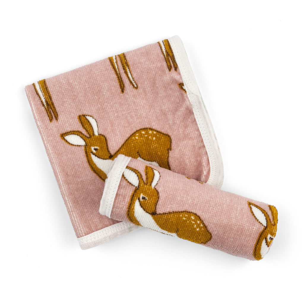 Organic Bath Cloth Set - Rose Doe