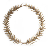 Antique Gold Finish Hanging Wreath