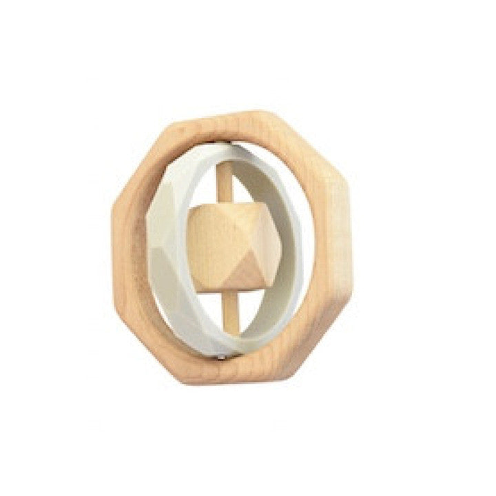 Wooden Teether Toy -  Montana Gray