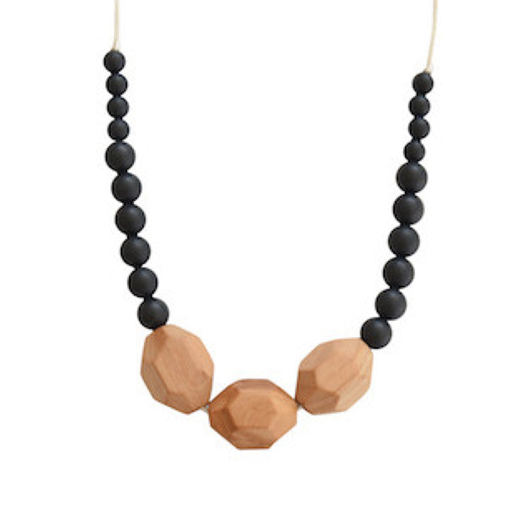 The Austin - Black Teething Necklace
