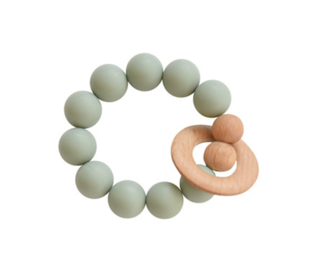 Silicone & Wood Teether - Succulent