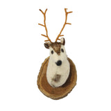 Felt Deer Mount- Cream