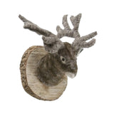 Felt Deer Mount-  Gray