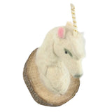 Felt Unicorn Mount - White