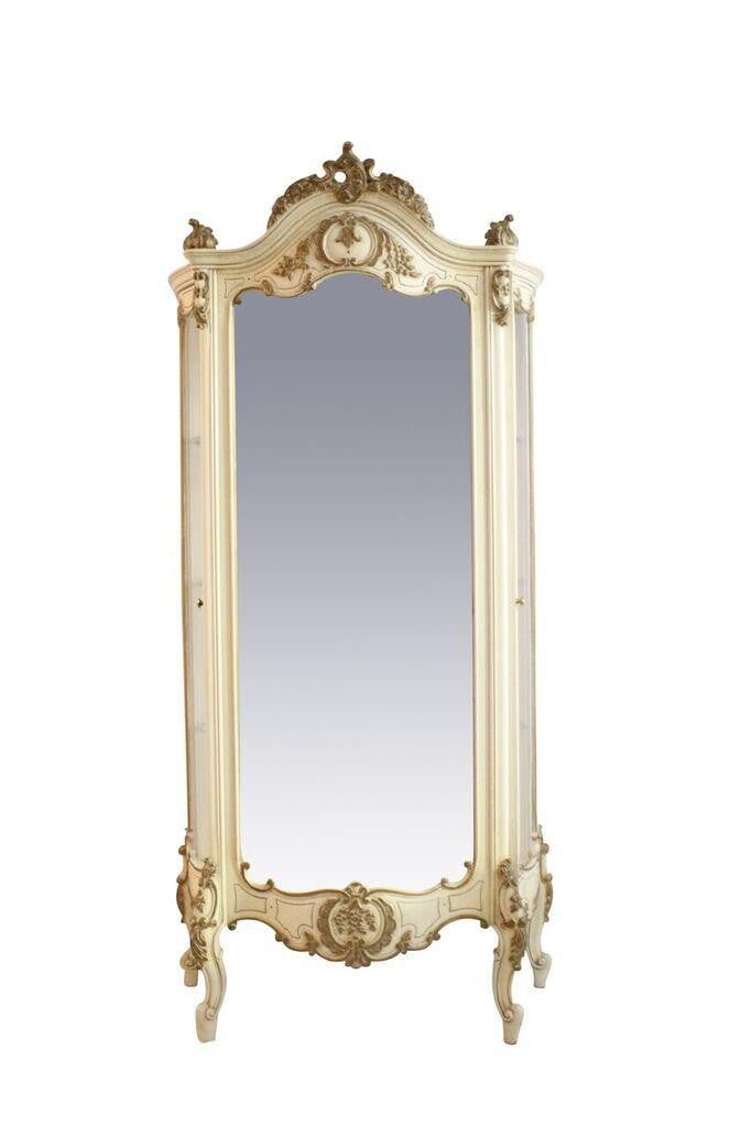 French Mirrored Curio Cabinet