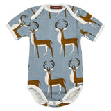 Organic Cotton Short Sleeve Onesie - Blue Buck