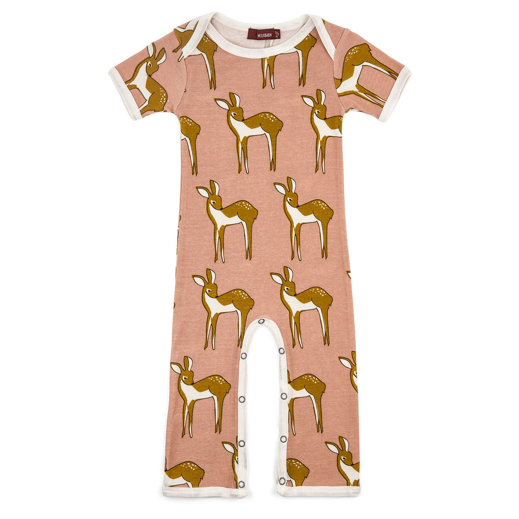 Organic Cotton Romper - Rose Doe