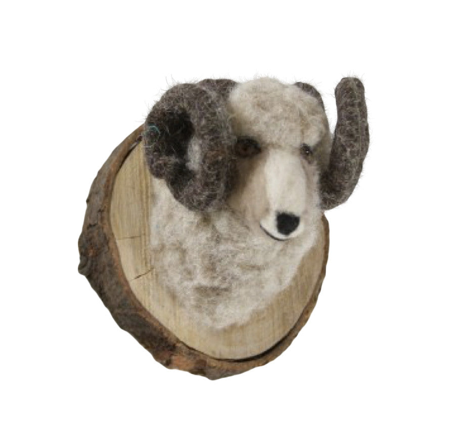 Felt Wooly Sheep Mount