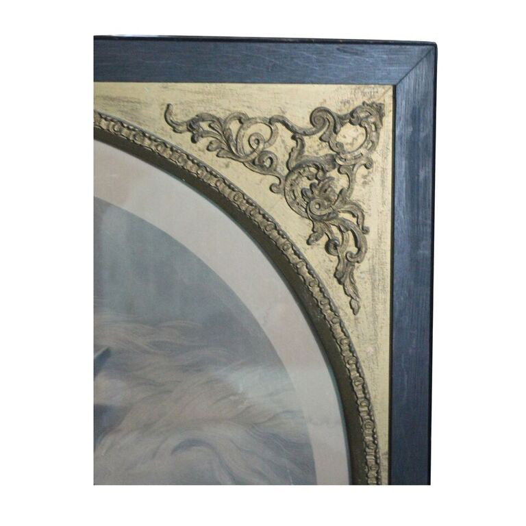 Wild Horses Print in Vintage Victorian Frame
