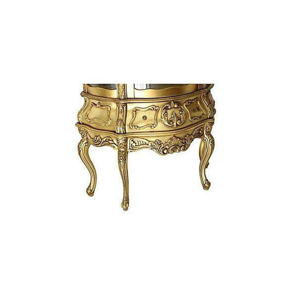 Gilded Bombay Curio Cabinet