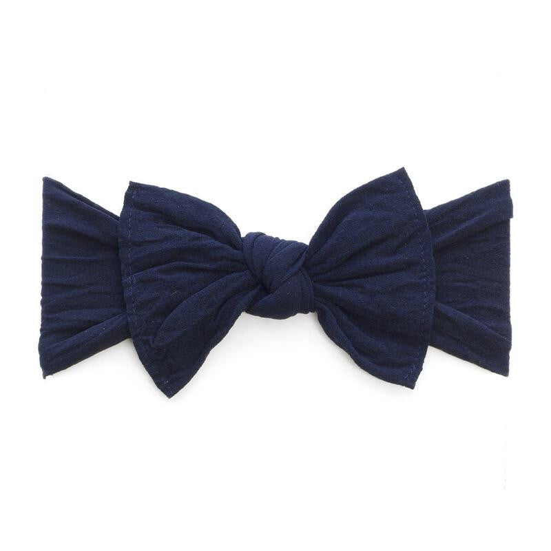 Baby Bling Bow Classic Knot- Navy