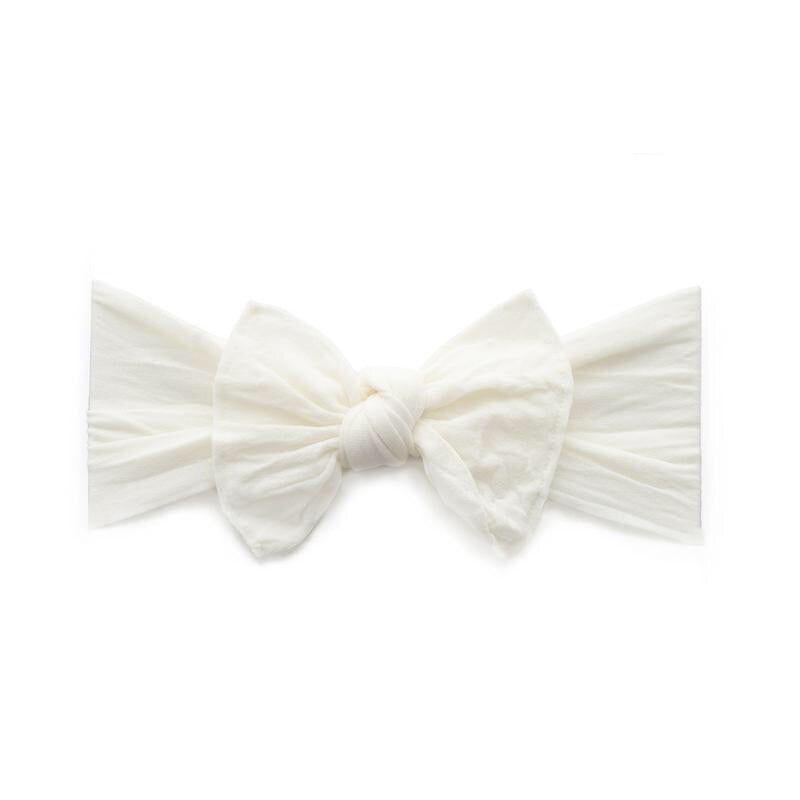 Baby Bling Bow Classic Knot- Ivory