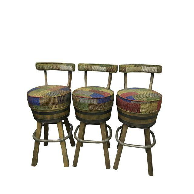 Mid Century Bar Stools- Set/3