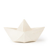 Origami Boat Teether, White