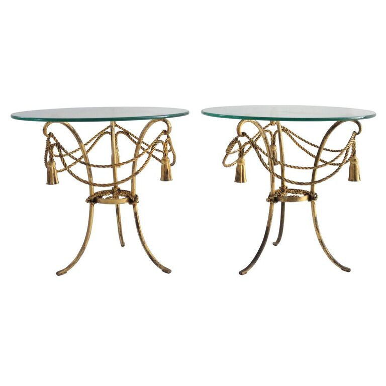 ... Vintage Hollywood Regency Side Tables, Pair ...