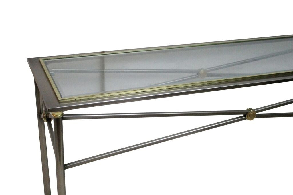Stainless Steel & Brass Console