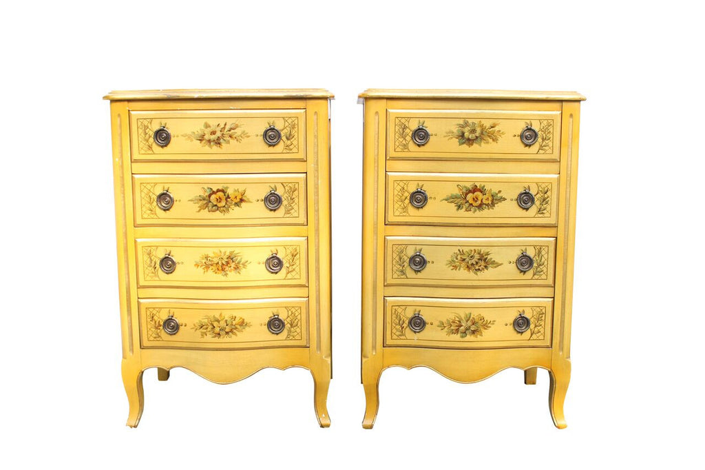 Paint Decorated Nightstands/Pair