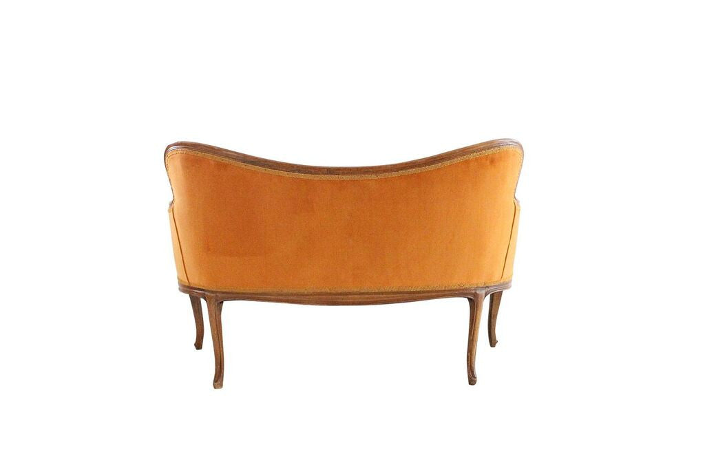 French Style Orange Settee