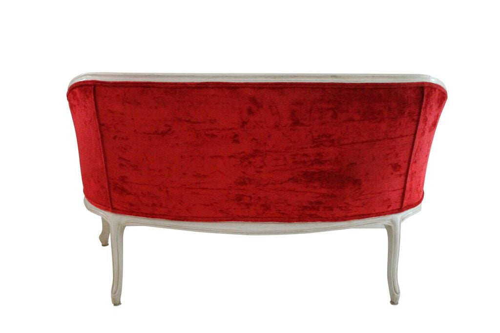 French Style Red Settee House Of Presley
