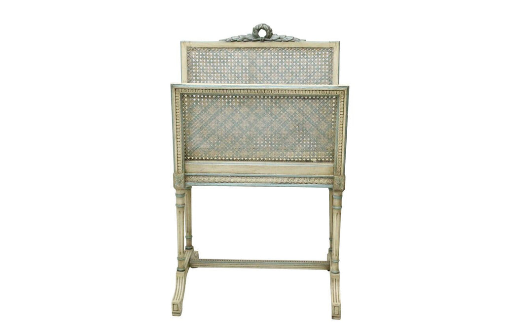 French Cane Magazine Rack
