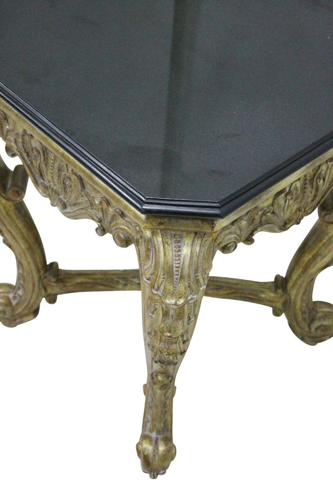Gilt & Marble Taboret Table
