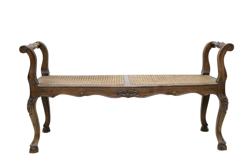 French Cane Bench