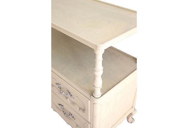 French Style White Washed Server