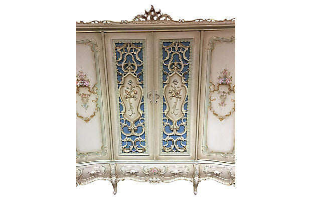 Italian Painted Armoire