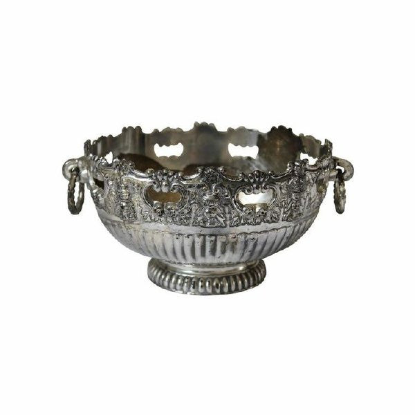 Ornate Oval Silver Bowl