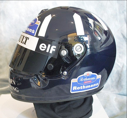 Damon Hill 1996 williams F1 helmet signed