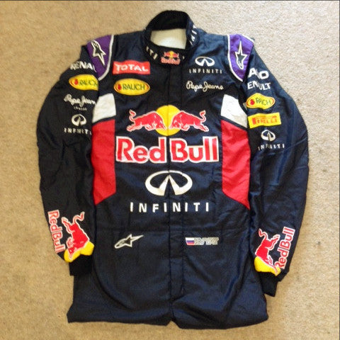 Daniil Kyvat worn race suit overalls 2015 F1 Red Bull
