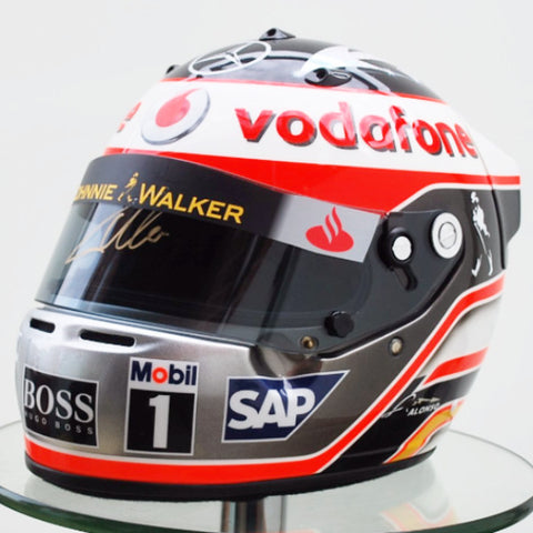 Fernando Alonso 2007 Mclaren F1 Formula one helmet official replica arai GP5