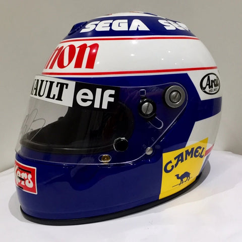Alain Prost 1993 helmet Formula 1 Williams signed F1