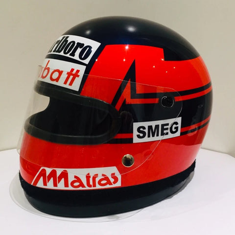 Gilles Villeneuve Ferrari Bell small eyeport helmet Formula 1 Williams signed F1