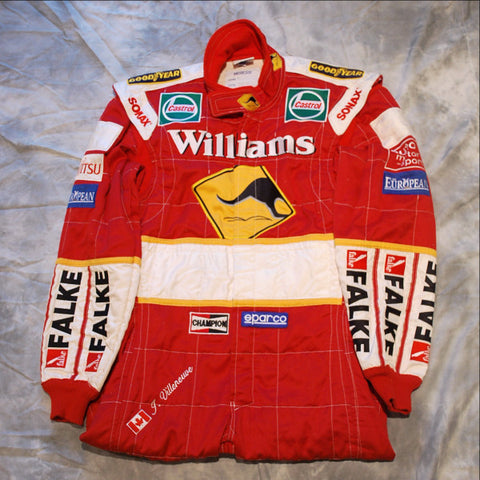Jacques Villeneuve Williams F1 race worn suit overalls 1998