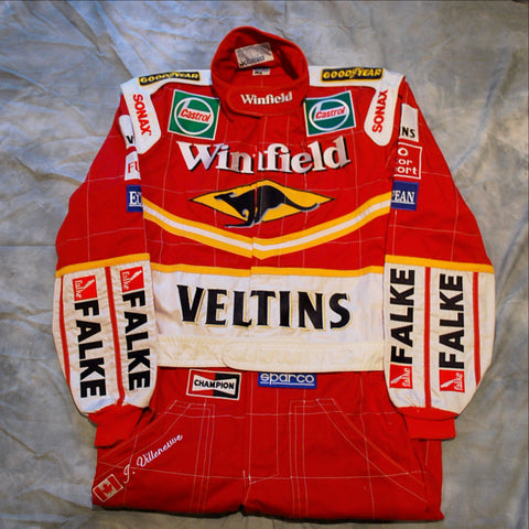 Jacques Villeneuve Williams F1 race worn suit overalls 1998 promotional