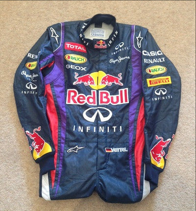 Sebastian Vettel Red Bull racing F1 overalls race suit 2013