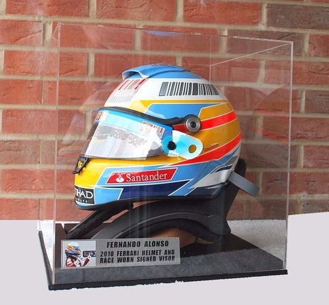 Fernando Alonso 2010 helmet replica with race worn visor