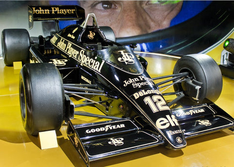 Ayrton Senna 40% scale model 1985 Lotus F1 car
