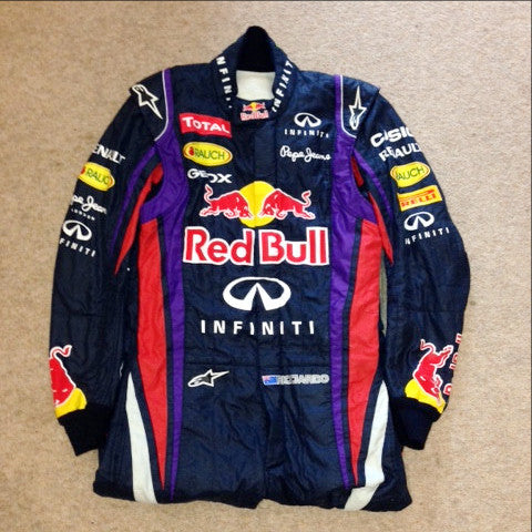 Daniel Ricciardo worn race suit overalls 2013 F1 Red Bull