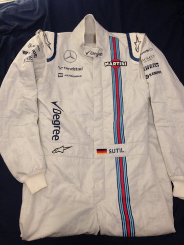 Adrian Sutil Williams F1 suit 2015