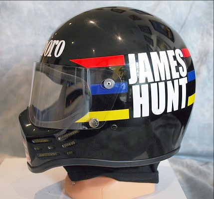 James Hunt simpson bandit replica helmet F1 Mclaren