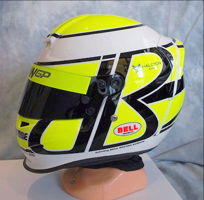 Jenson Button 2009 official replica brawn helmet f1 BELL SPORTS