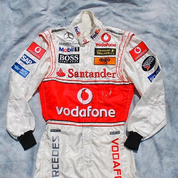 Lewis Hamilton signed and worn race suit promotional F1 Mclaren