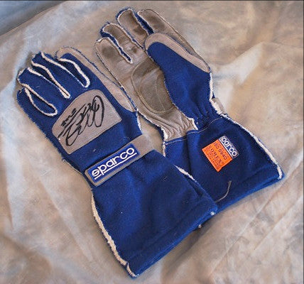 Ralf Schumacher race worn and signed BMW Williams gloves 2002
