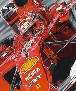 "Michael Schumacher colin cart canvas ""The Ringmaster"""